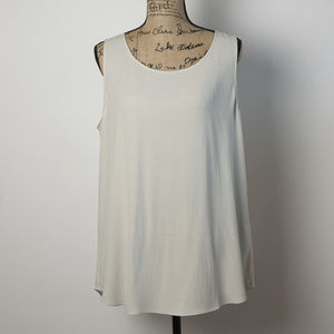 Eileen Fisher Sleeveless Silk Tunic